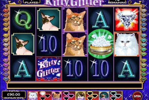 Play kitty glitter online