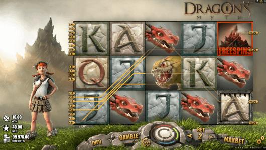 dragon myth slot screenshot