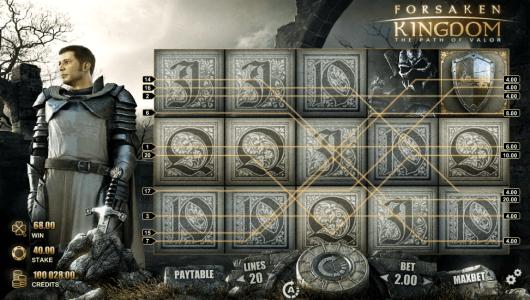 Forsaken Kingdom Slot screenshot