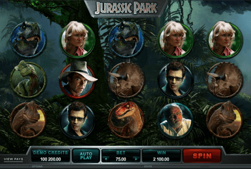 Jurassic Park Slot screenshot