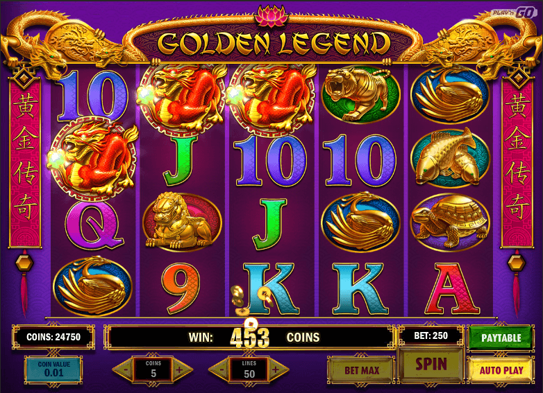 Golden Legend Slot Machine
