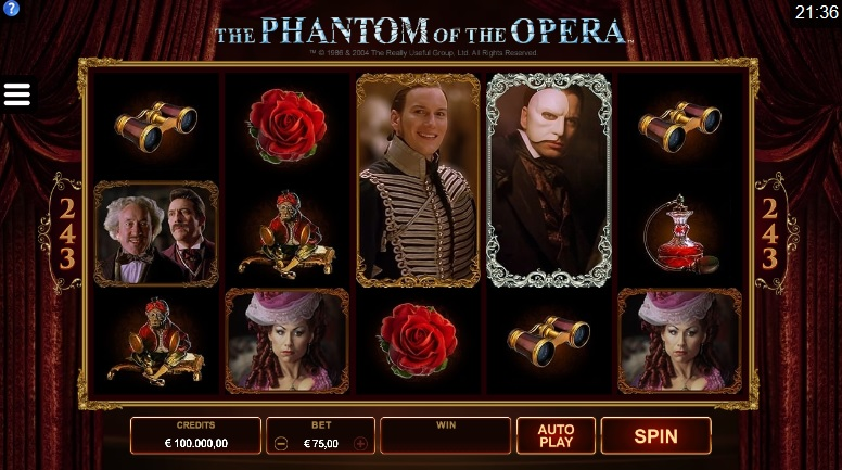 The Phantom of the Opera Slot - Play for Free Instantly Online