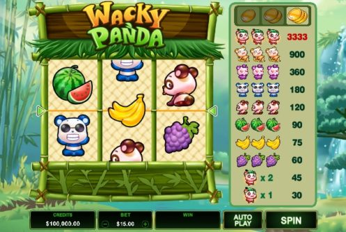 Wacky Panda Slot screenshot big